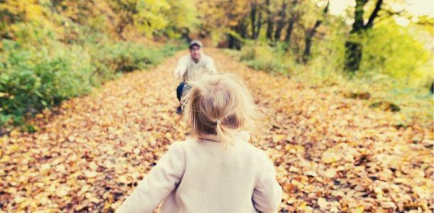 bambina con il padre